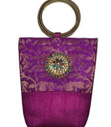 Buy Brocade Bangle Clutch Pink clutch online