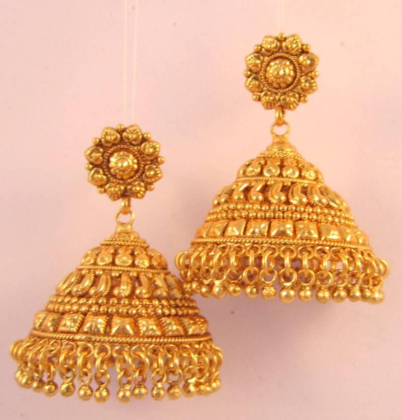 Buy Earrings Jhumka Chandelier Gold Plated Temple