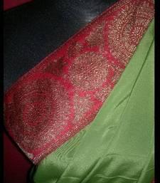 Buy PASSIONATE GREEN crepe-saree online