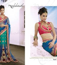 Buy Nakkashi Dual Shaded Net Saree engagement-gift online