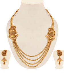 Buy Incredible Gold Plated Kairi Design 4 String Necklace Set for Women necklace-set online