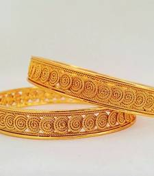 Buy JFL - Traditional & Exquisite Sprial One Gram Gold Plated Designer Bangles for women & Girls bangles-and-bracelet online