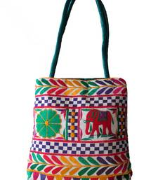 Buy Multi color Kuchi Work Hand Bag handbag online