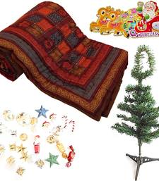 Buy Double Bed Quilt n Decorative Christmas Tree Gift 134 christmas-gift online