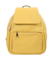 Yellow plain backpacks shop online