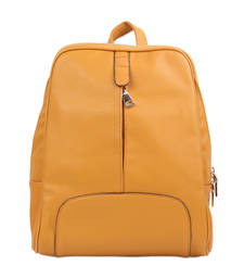 Buy Gold plain backpacks backpack online