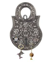 Buy Jaipuri Oxidized 5 Key Holder in White Metal 116 wall-art online