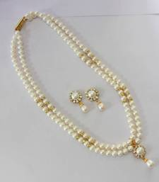 Buy REAL PEARLS DOUBLE STRING ROUND PEARLS SET Necklace online