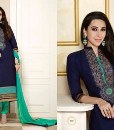 Buy Latest Designer karishma Kapoor Cotton Embroidery Work Dress Material  pakistani-salwar-kameez online