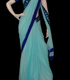 Buy Monday Blues chiffon-saree online