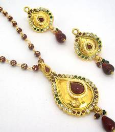 Buy Polki Designer Pendant Set 31 Necklace online