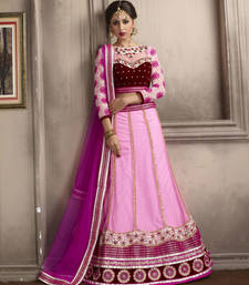 Buy Unique Rose Pink Embroidered Lehenga Choli punjabi-lehenga online