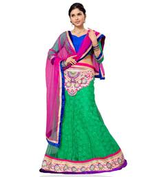 Buy Green Embroidered Net Lehenga Choli With  Blouse lehenga-choli online
