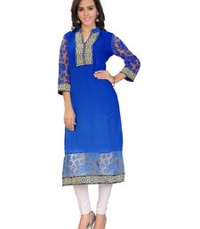 Buy This is a Party wear  Long Kurti/Tunic made from Brasso Fabric. kurtas-and-kurti online