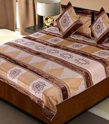 Buy Rajasthani 5 Piece Cream Color Silk Bedlinen Cushion Pillow Covers Set duvet-cover online
