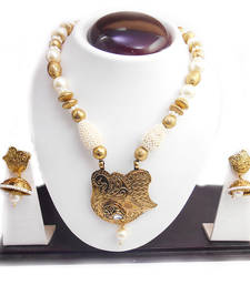 Buy Traditional Gold Design Beautiful Immitation Necklace Jewellery Set Necklace online