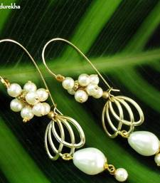 Buy Golden_Petals_Pearl_Drop_Pearl_Grapes_Earrings danglers-drop online