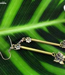 Buy Brass_Long_Pipe_Butterfly_Earrings danglers-drop online