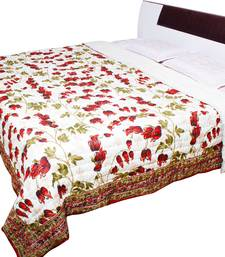 Buy Rajasthani Leafy and Floral Print Design Double Bed Razai - 105 quilt online