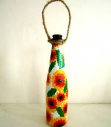 Buy Handpainted bottle planters-Yellow and orange other-home-furnishing online