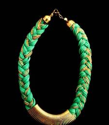 Buy Braided (Green) Neckpiece Necklace online