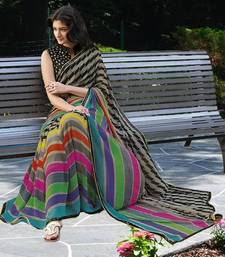 Buy Multicolor Chiffon printed saree printed-saree online