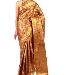 Buy magenta woven Silk saree with blouse silk-saree online