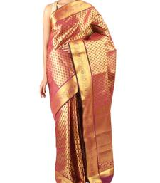 Buy Maroon  woven Silk saree with blouse silk-saree online
