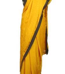 Buy Yellow Swirl Saree chiffon-saree online