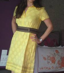 Buy Yellow Shirt dress dress online