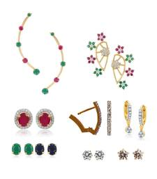 Buy Pack of Multi_Color 7 pair of earrings including 1 interchangeable 6 in 1 pack combo-earring online