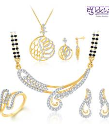 Buy Sukkhi Exquisite Gold & Rhodium Plated CZ jewellery-combo jewellery-box online
