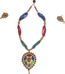 Handmade Ethnic Indian Assamese Jewellery - Dugdugi Set shop online