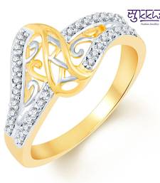 Buy Sukkhi Marvellous Two Tone CZ Studded Ring Ring online