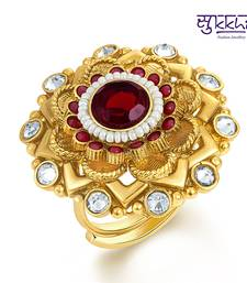 Buy Sukkhi Delightful Two Tone CZ Studded Ring Ring online