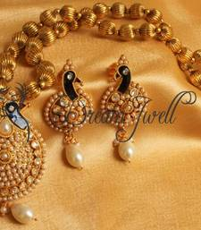 Buy STUNNING ANTIQUE PEACOCK PEARL NECKLACE SET necklace-set online