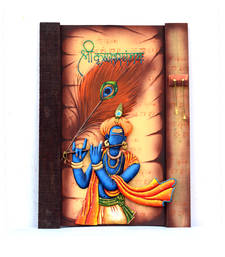 Buy Multicolor lord krishna wall hanging wall-art wall-art online