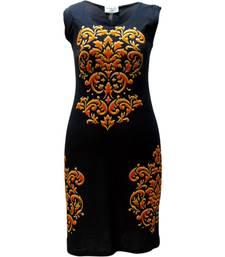 Buy  Digital Printing Black color Dress dress online