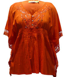 Buy Sheeting with net& in Neck side Hand Embroidery & hand work top online