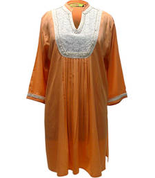 Buy poly crepe with lace work kaftan kaftan online