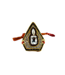 Buy Traditional Stone Work and gold platted Bajuband bajuband online