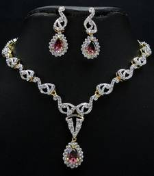 Buy Very pretty and elegant CZ necklace set. Necklace online