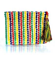 Buy Multicolor Canvas Cloth Pouch wallet online