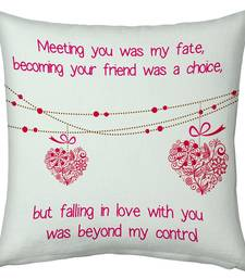 Buy White Designer Romantic Printed Filled Cushion valentine-gift online