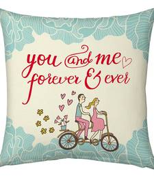 Buy Blue Designer Printed Filled Cushion valentine-gift online