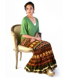 Buy Crushed Stylish Cotton Long Skirt Valentine Gift valentine-gift online