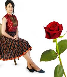 Buy Ethnic Jaipuri Cotton Short Skirt Valentine Gift valentine-gift online
