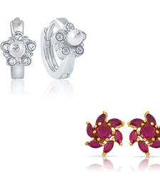 Buy Combo of Trendy Bali Hoop Stud Earrings for Women jewellery-combo online
