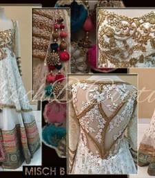 Buy White Net  unstitched bridal-lehengas bridal-lehenga online