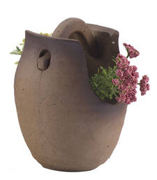 Buy Lovely Designed Brown Ceramic Planter Pot pot online